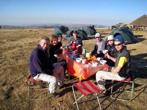Breakfast at Gich Camp