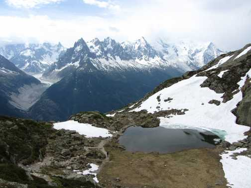 Coming down from Lac Blanc