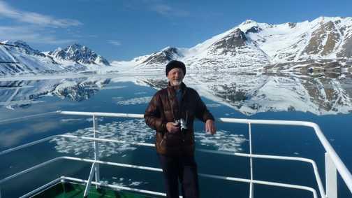 Barry at monaco Glacier