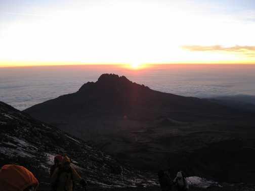Glaciers from Uhuru Peak