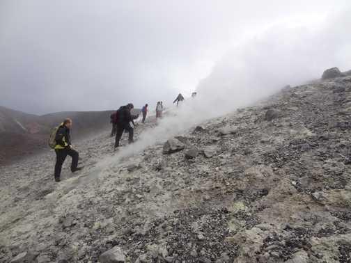 Vulcano fumaroles