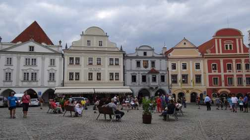 The square at Czesky Krumlov