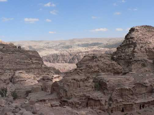 from the heights of Petra