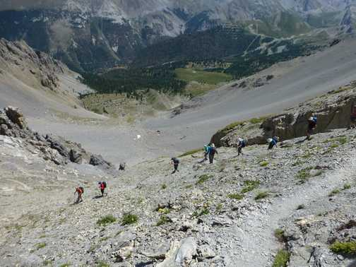 Wonderful views during one of the descents