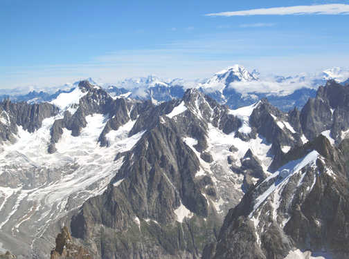 Neil pittaway  View from the Aguille Du Midi