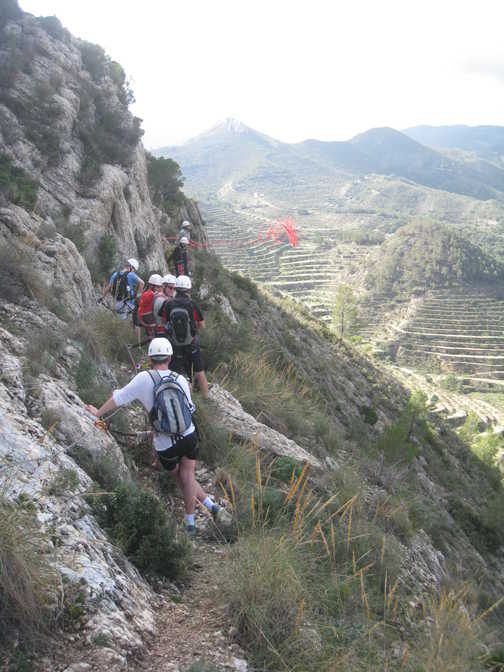 View from the top of the via ferrata