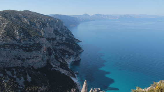 View from summit of Salinas to Cala Goloritze