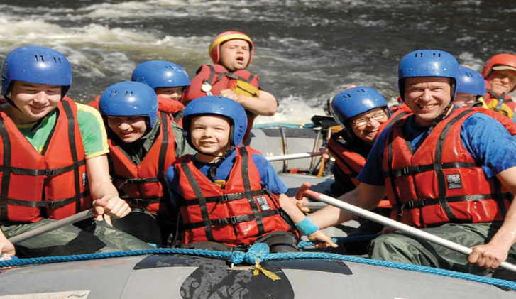 Family rafting from Basecamp Oulanka in Finland