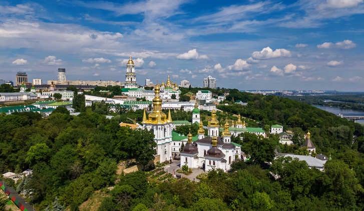 The skyline of Kyiv