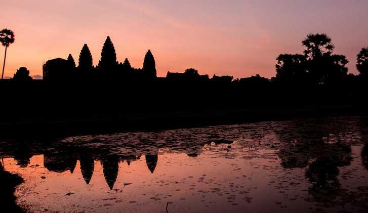 Angkor at Sunset