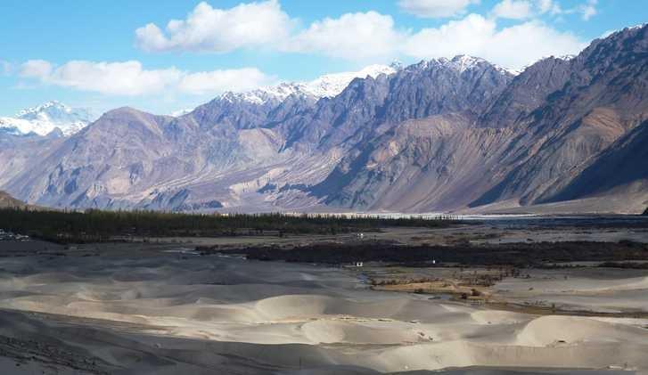 Sand dunes near Hundar, Ladakh, India