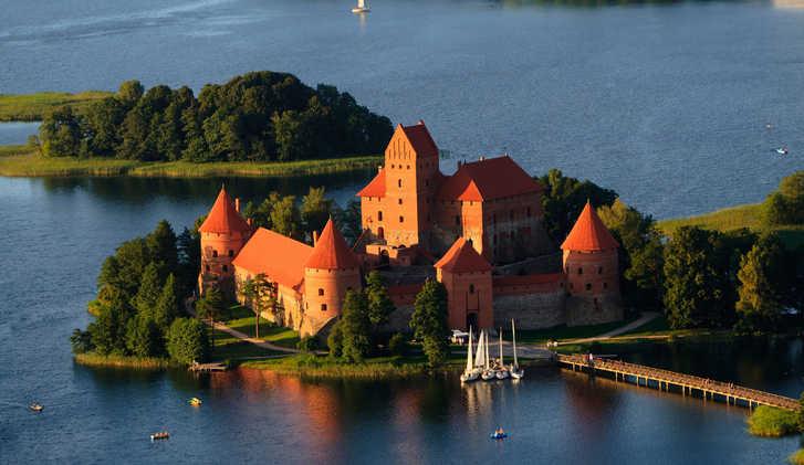 Trakai Castle aerial view, Lithuania
