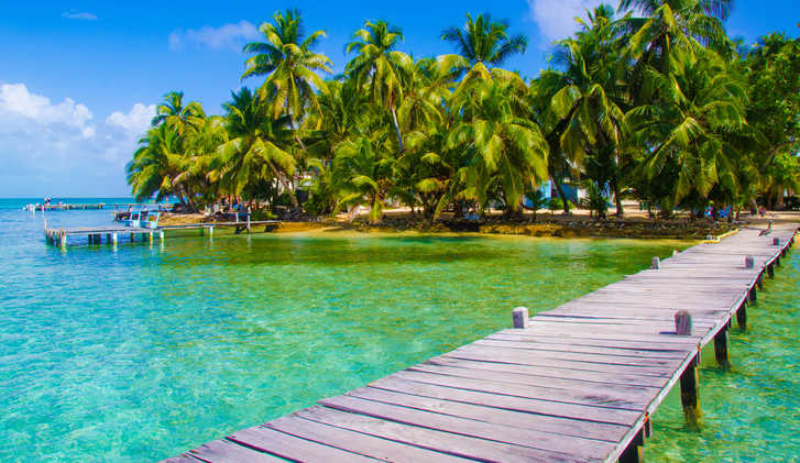 Jetty Pier of an beautiful Island, Caribbean