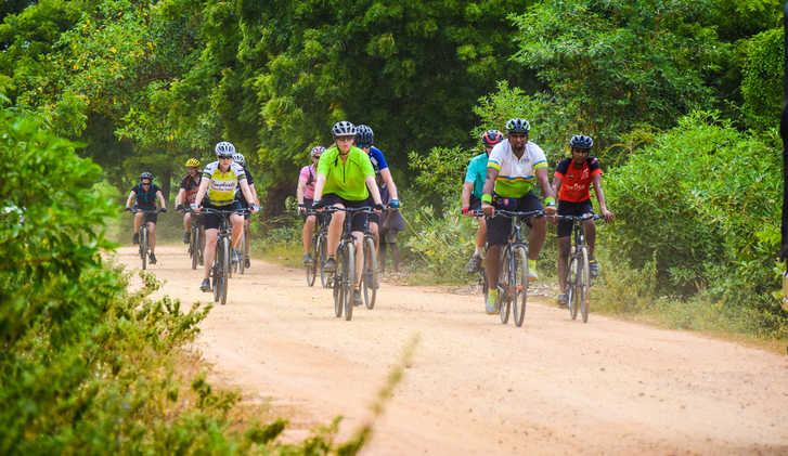 Exodus clients cycling in Sri Lanka