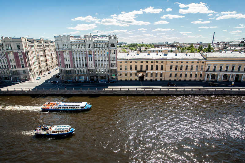 The Asteria Hotel and the Fontanka River