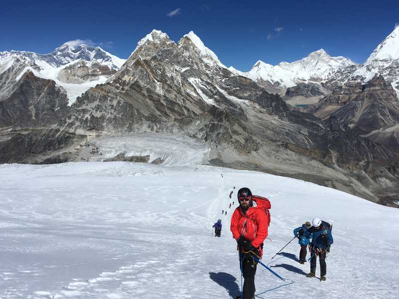 Between Low and High Camp, Nepal