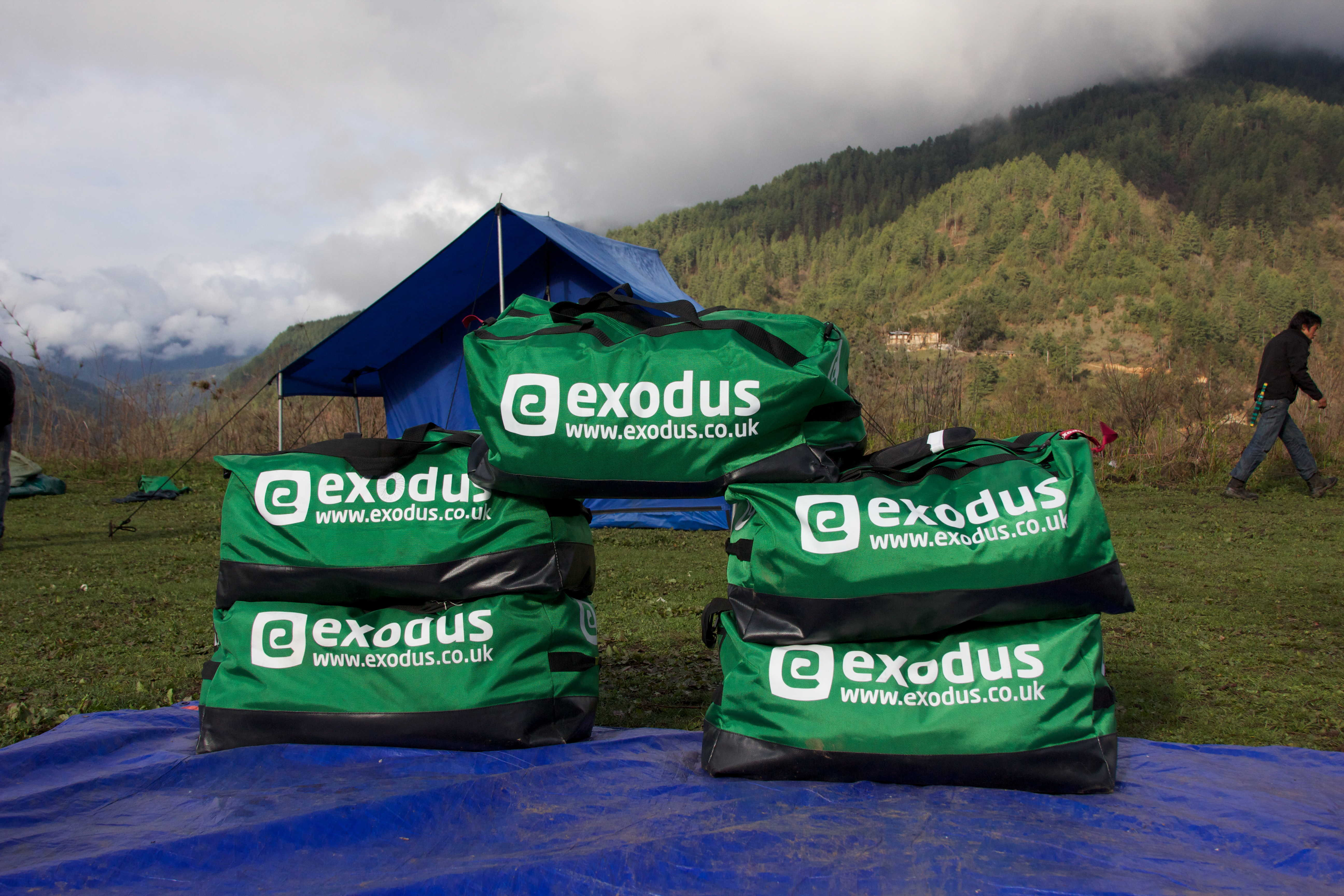 Exodus Kit Bags in Bhutan