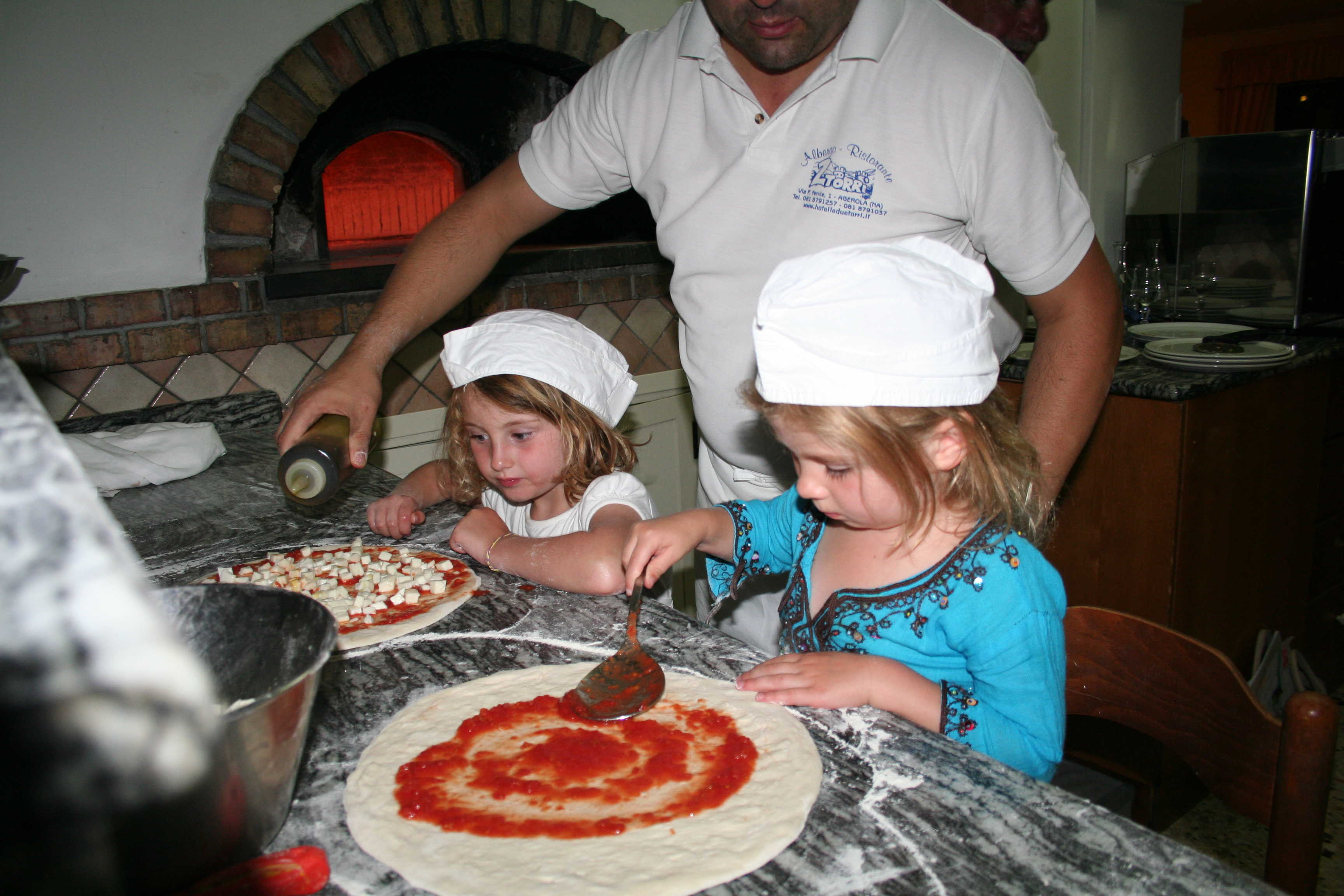 Pizza-making in Amalfi