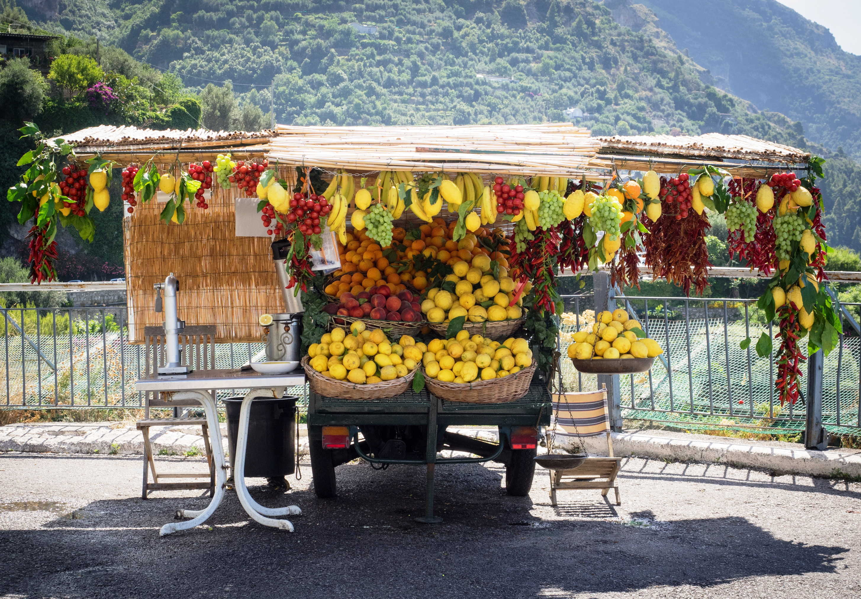 Lemon seller on the Amalfi Coast
