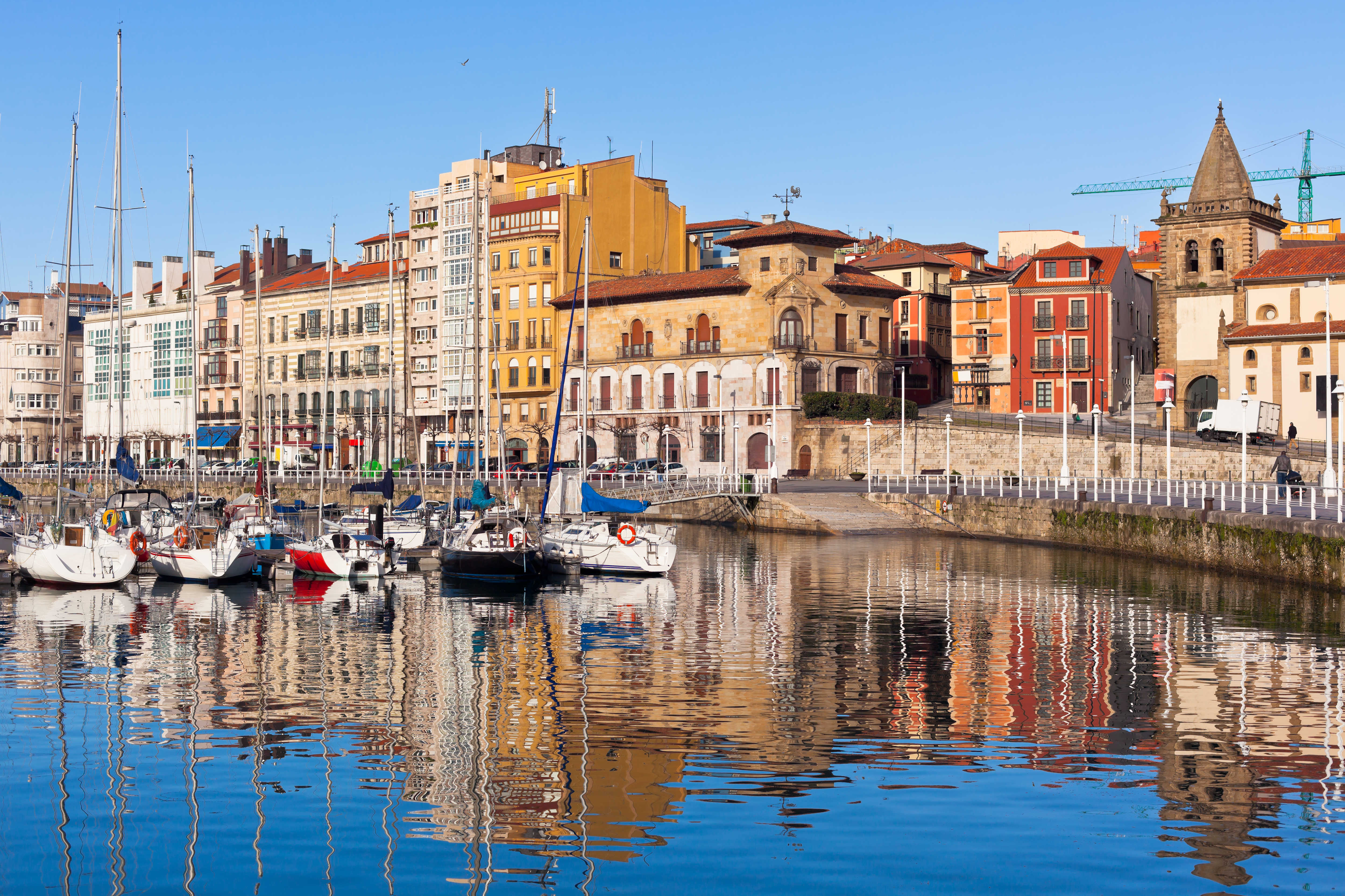 Old Port of Gijon, Asturias, Northern Spain