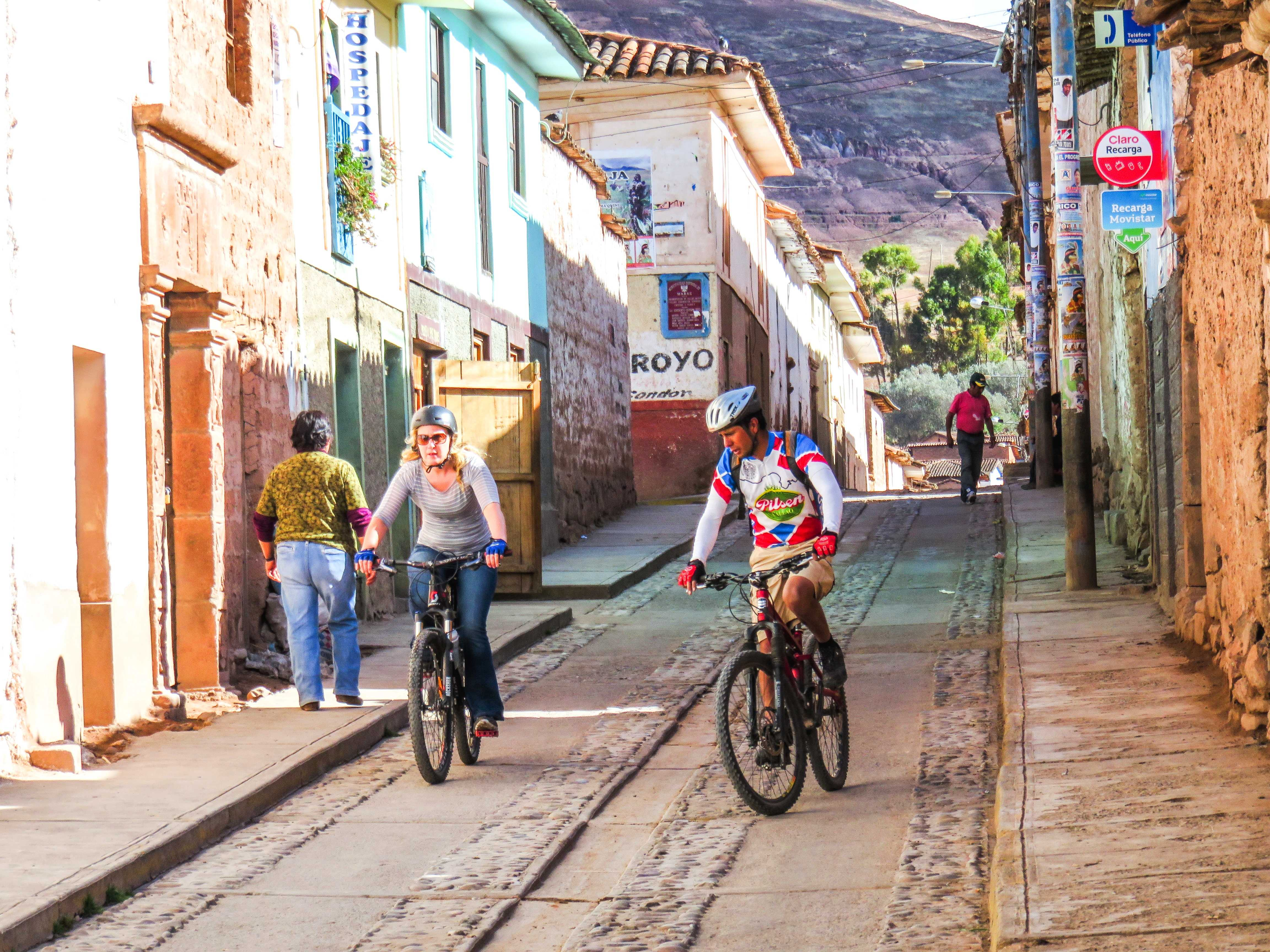 Cycling on the streets of Peru