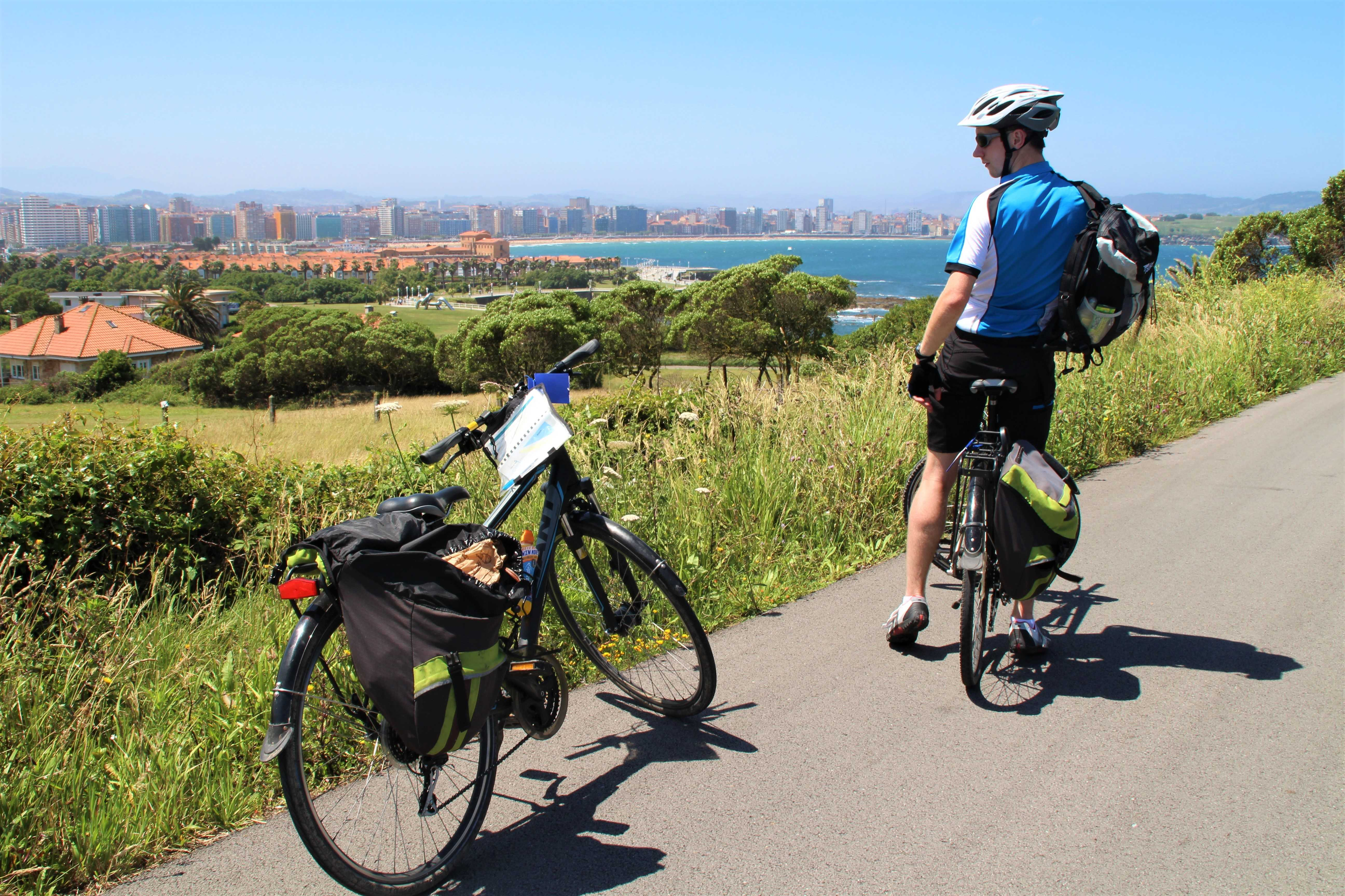 Cycling through Gijon