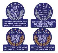 Exodus received no less than FOUR awards at the prestigious British Travel Awards 2010.