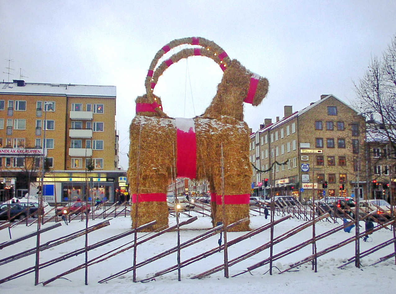Yule Goat, Gavle, Sweden. Image credit: By Christian Gidlöf, wikimedia commons