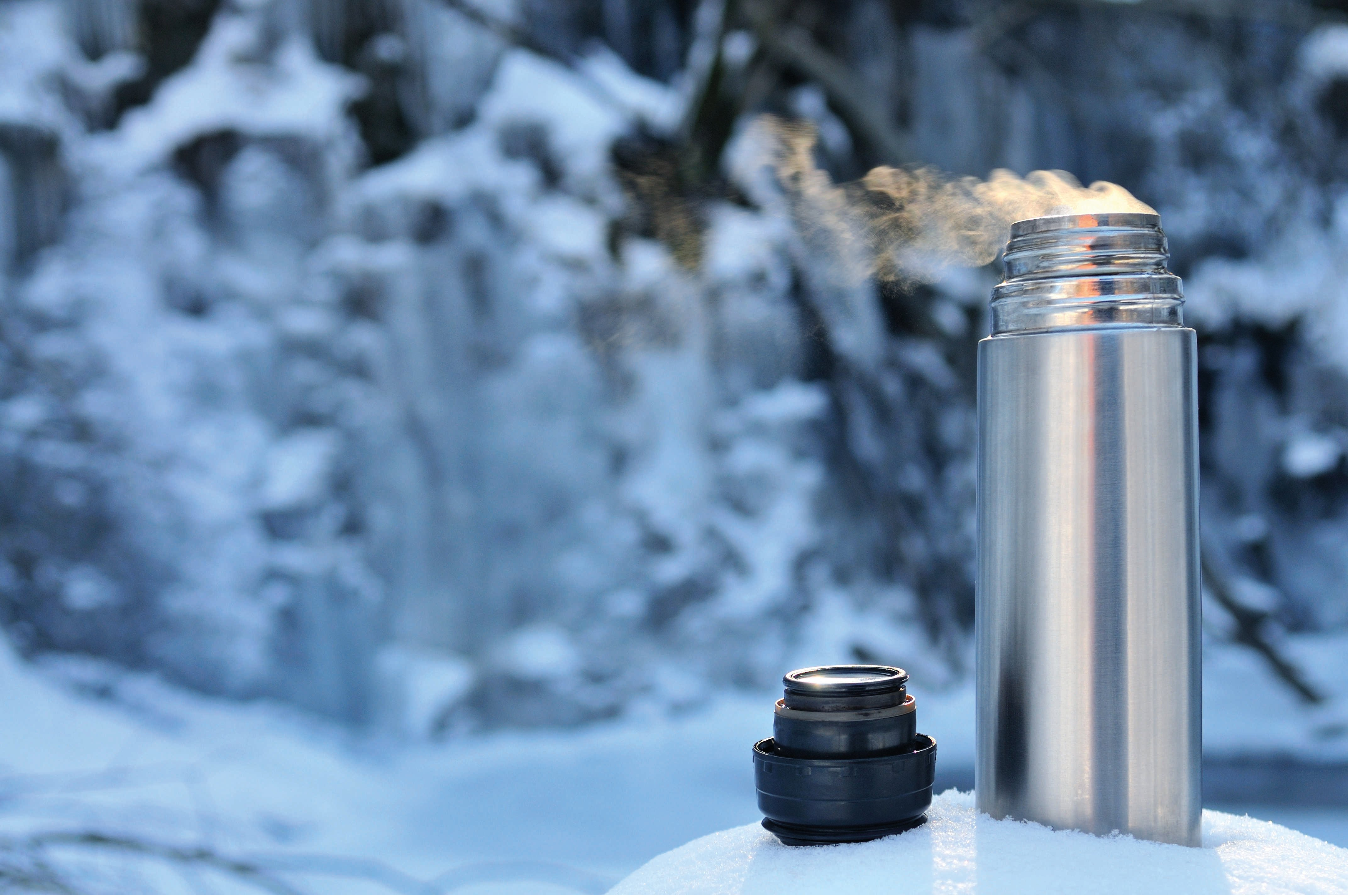 Thermos in the snow