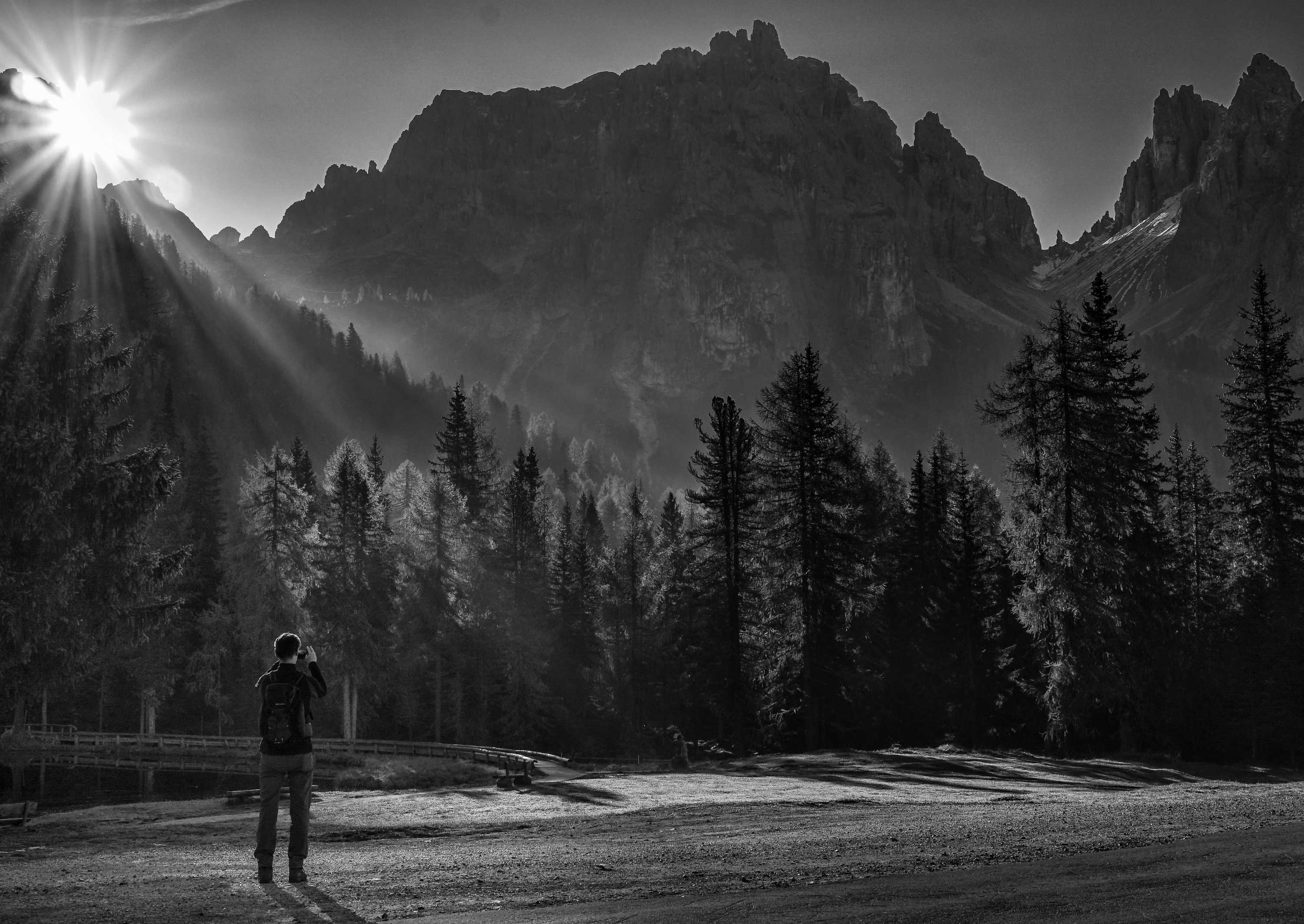 Classic Dolomites in Black & White by Janice Law - Photo Competition winner November 2017