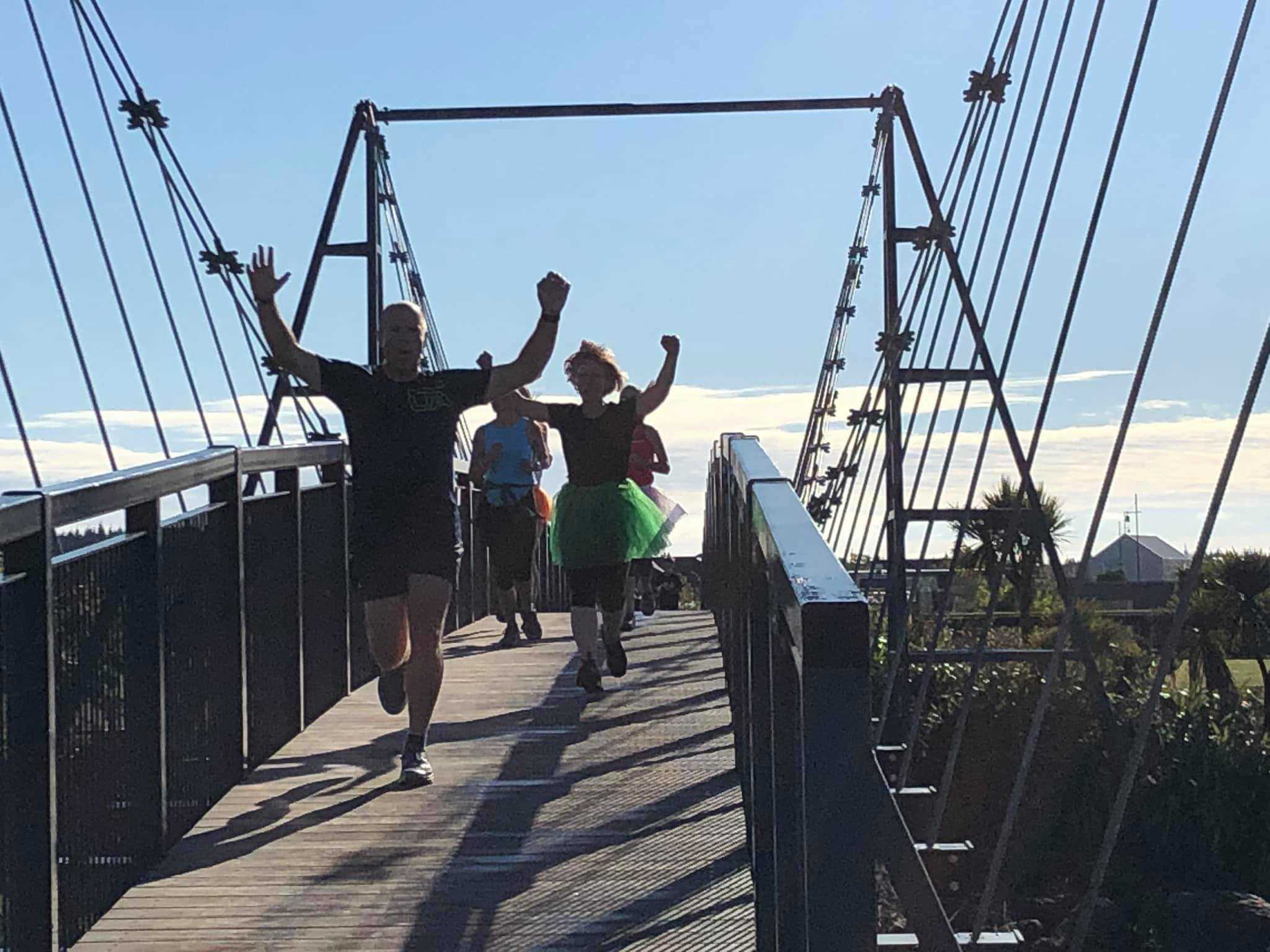 Pegasus parkrun suspension bridge