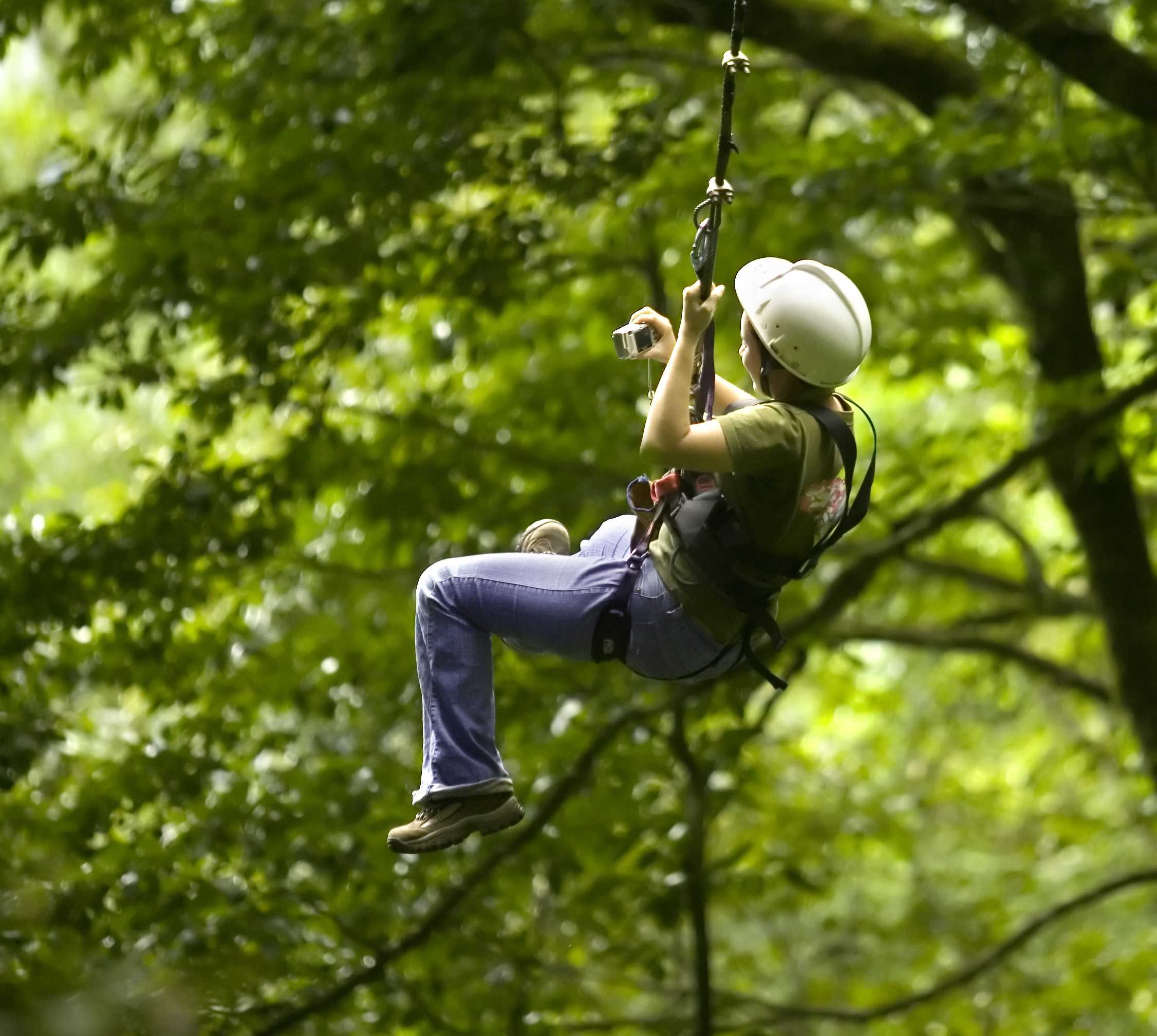 Zip wires in the Costa Rican rainforest